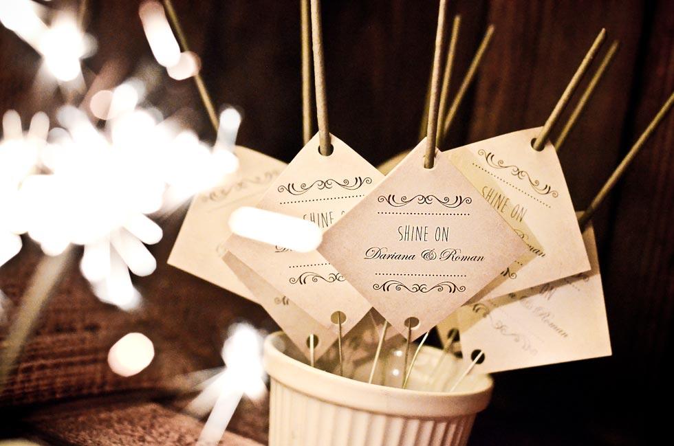 Wunderkerzenanhänger zur Hochzeit selbst gestalten bei carinokarten